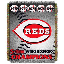 MLB Cincinnati Reds Commemorative Tapestry Throw