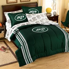 Official College Style 886 New York Jets Full Comforter and Sham