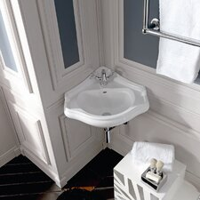 Kerasan Retro Wall Mounted Bathroom Corner Sink