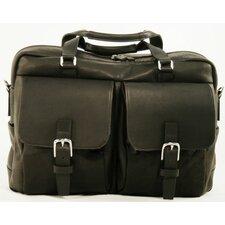 LaRomana Compact Leather Laptop Briefcase