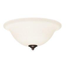 One Light Glass Bowl Ceiling Fan Light Kit