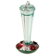 8 oz. Torchiere Style Glass Hummingbird Feeder