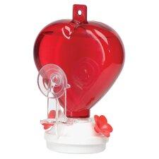 12 oz. Heart Hummingbird Window Feeder
