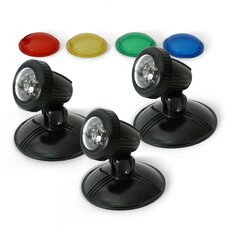 TripleGlo 3 Piece LED Light Kit with Transformer and Color Lenses