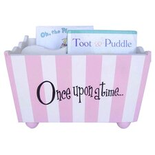 """Once Upon a Time"" Stripe Hand Painted 10.5"" Bookcase"