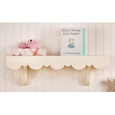 Scalloped Cottage Wall Shelf