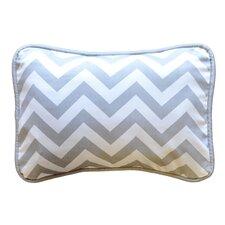 Zig Zag Throw Pillow in Grey