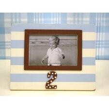 Stripe 2nd Birthday Picture Frame