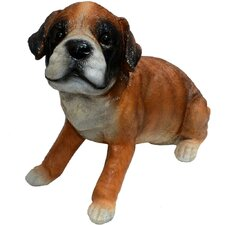 Punch Boxer Puppy Statue