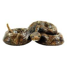 Western Diamond Back Small Snake Statue