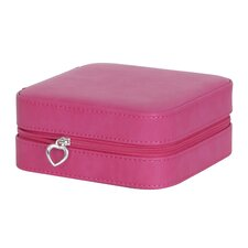 Josette Travel Faux Leather Jewelry Case