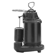 63 GPM Vertical Float Switch Cast-Iron Sump Pump