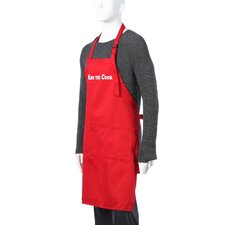 "Men's ""Kiss The Cook"" Apron in Red"