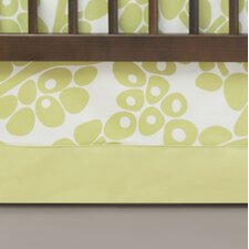 Modern Berries Solid Peek-a-Boo Crib Skirt