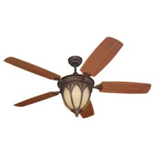 "54"" Grand Isle 5 Blade Indoor / Outdoor Ceiling Fan with Remote"