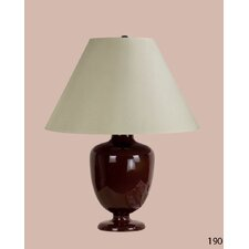 Madeleine Table Lamp with Charlotte Empire Shade in Brown
