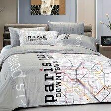 Paris Map Duvet Cover Set