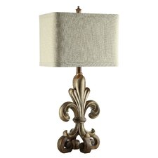 """Traditions Orleans 34"""" H Table Lamp with Rectangular Shade"""