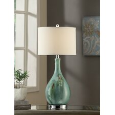 "Manhattan Sea Scape 30"" H Table Lamp with Drum Shade"