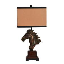 """Traditions Running Free 31.5"""" H Table Lamp with Rectangular Shade"""