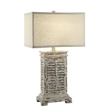 """Antique Shutter 31"""" H Table Lamp with Rectangular Shade"""