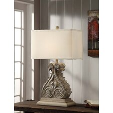 """Antique Corbel 30"""" H Table Lamp with Rectangular Shade"""