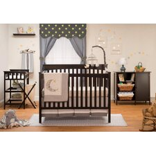 Petite Paradise 4 Piece 2-in-1 Convertible Crib Set