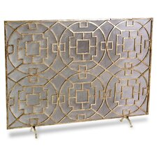 Palm Springs 1 Panel Iron Fireplace Screen