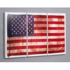Old Glory 3 Piece Framed Photographic Print Set