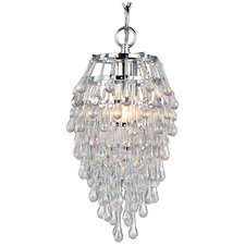 Elements Crystal Teardrop 1 Light Mini Chandelier