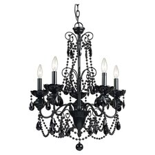 Mischief Elements 5 Light Candle Chandelier