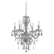 Naples Elements 4 Light Crystal Chandelier