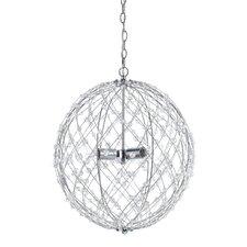 Silver Web Horizons 3 Light Globe Pendant