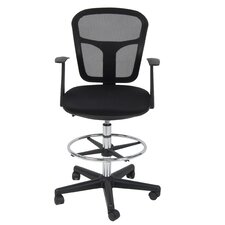 Riviera Mid-Back Mesh Drafting Chair with Arms