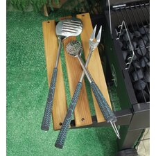 3 Piece Golf Club BBQ Grilling Tool Set