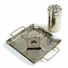 Steven Raichlen Stainless Beer Can Chicken Roaster with Drip Pan