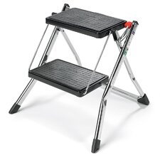 2-Step Steel Mini Step Stool with 225 lb. Load Capacity