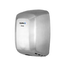 Surface-Mounted Steel, Adjustable Sensor-Operated Hand Dryer in Stainless Steel