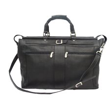 "Traveler 19"" Leather Travel Duffel with Pockets"