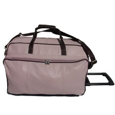 "Pastel Leather 21"" 2 Wheeled Carry-On Duffel"