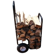 FireKing Firewood Fire Pit Steel Cart