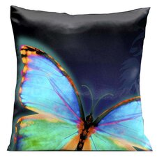 Glow Butterfly Throw Pillow