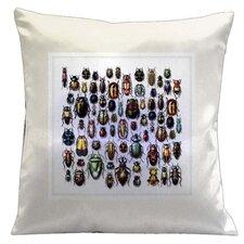 Botanic Beetles Microsuede Throw Pillow