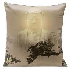 Zen Buddha Mist Throw Pillow