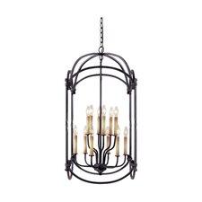 Iron 12 Light Hanging Lantern