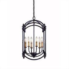 Iron 6 Light Outdoor Hanging Lantern