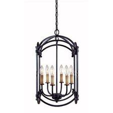 Iron 6 Light Hanging Lantern