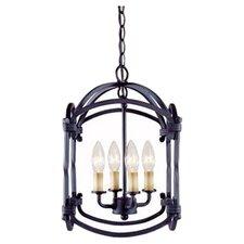 Iron 4 Light Hanging Lantern