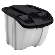 18 Gallon Storage Trends Industrial Recycling Bin (Set of 2)