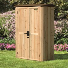 5 Ft. W x 3 Ft. D Vertical Cedar Storage Shed